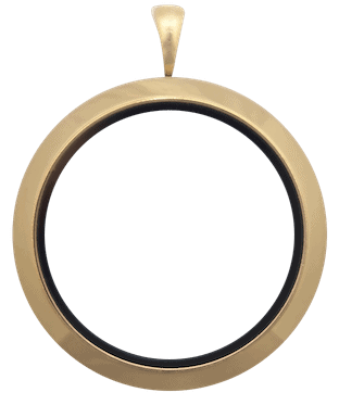 locket gold full size round plain