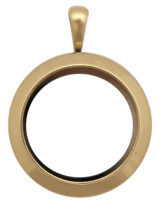 locket gold medium round plain