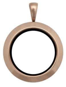 Locket Rose Gold Medium Plain