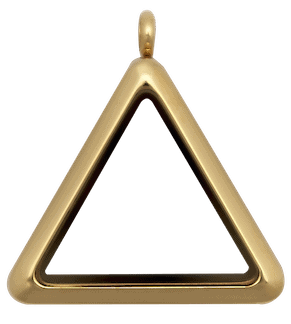 Gold Plain Triangle Locket