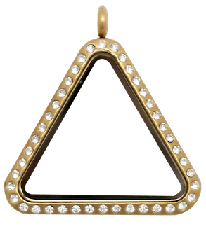 Gold Crystal Triangle Locket