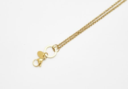 Chain Gold 80cm Rolo O Ring