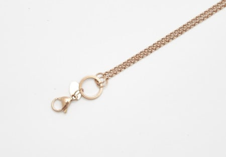 Chain Rose Gold 80cm Rolo 'o' Ring
