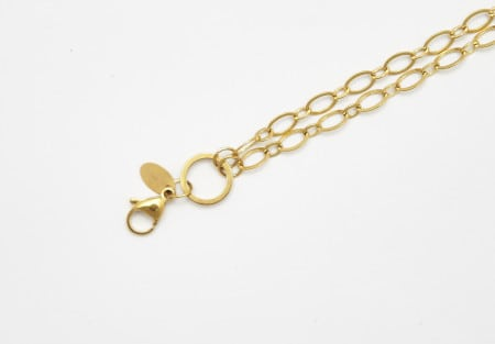 Chain Gold 75cm Oval Link