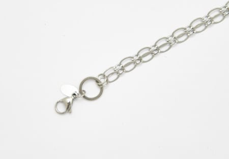 Chain Silver 75cm Oval Link