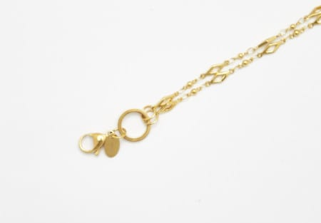 Chain Gold 80cm Diamond Link