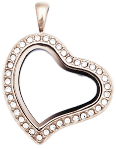 Locket Rose Gold Sweet Heart with Crystals