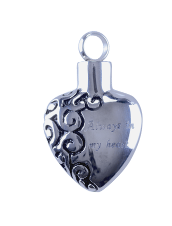 Urn Silver Engraved 'Always in my Heart'