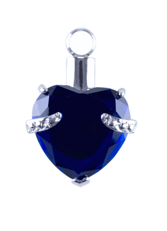 Urn Blue Crystal Heart