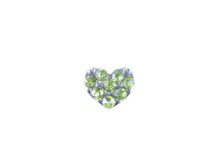 Heart - Green Crystals