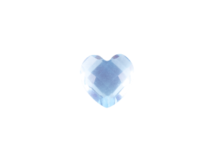 Heart - Resin Light Blue
