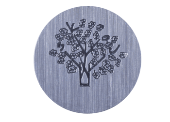 Large Plate - Silver Tree