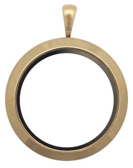 Locket Gold Standard Round Plain