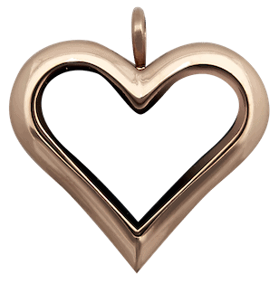 Locket Rose Gold Full Size Heart Plain