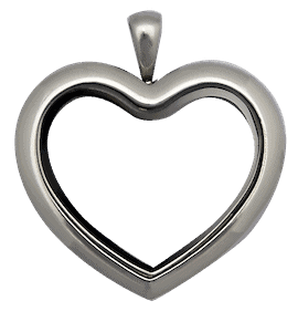 Locket Silver Standard Heart Plain