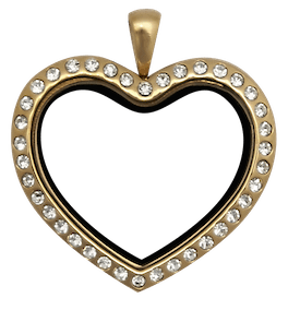 Locket Gold Standard Crystal Heart
