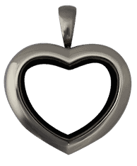 Locket Silver Medium Heart Plain