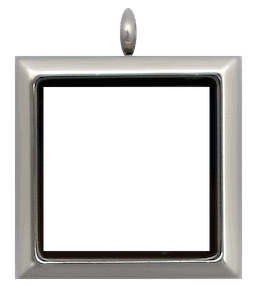 Locket Silver Standard Square Plain