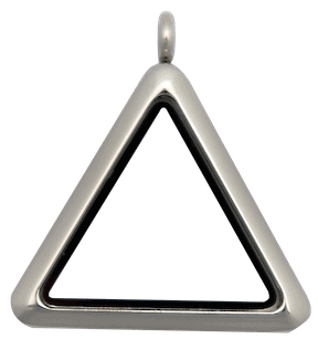 Silver Plain Triangle Locket