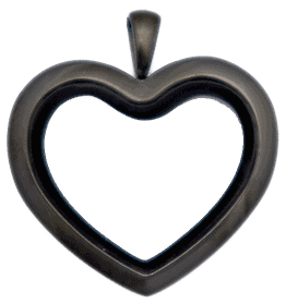 Black Standard Heart Locket