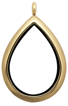 Gold Raindrop Plain Locket