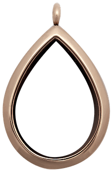 Rose Gold Plain Raindrop Locket