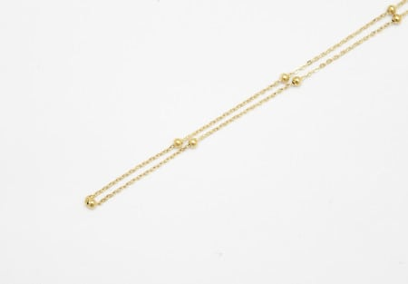 Chain Gold 50cm Large Ball Station