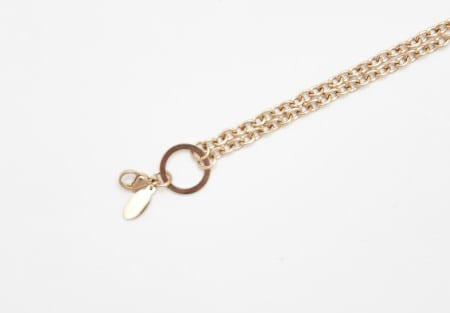 Chain Rose Gold 50cm Rolo 'O' Ring