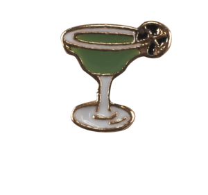 Martini - Green and Gold Glass