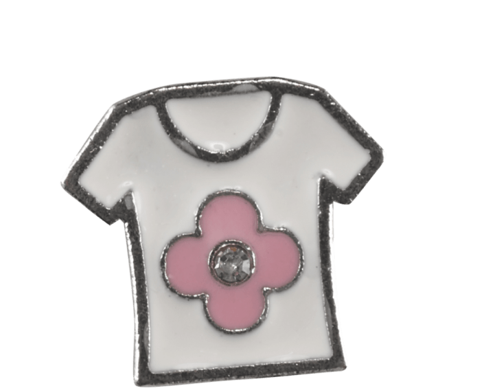 Girls Shirt with Pink Flower