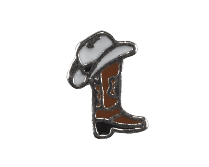 Shoe - Cowboy Boot with White Hat