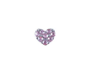 Heart - Pink Crystals