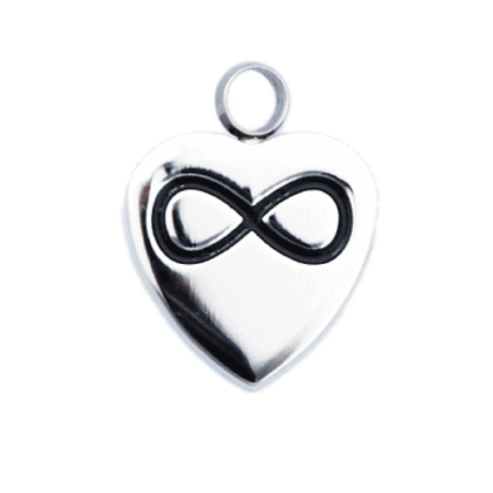 Urn Silver Infinity Heart - Cremation Jewellery Australia
