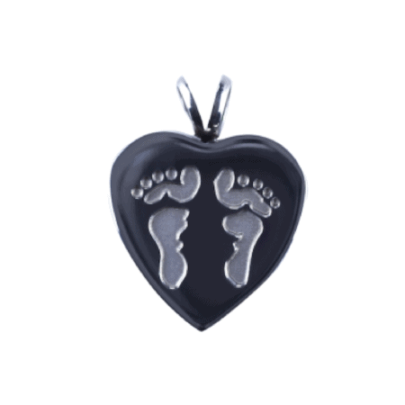 Urn Heart 2 Footprints - Lockets For Ashes, Hair, Sand