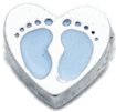 Heart - Blue Baby Feet