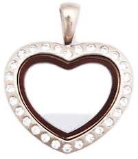 Locket Rose Gold Medium Crystal Heart