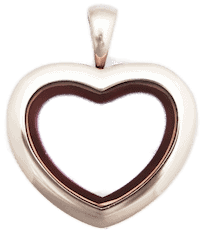 Locket Rose Gold Medium Plain Heart