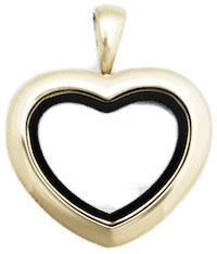 Locket Gold Medium Plain Heart