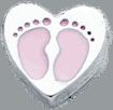 Heart - Pink Baby Feet