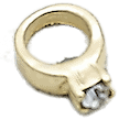 Ring - Gold with Crystal