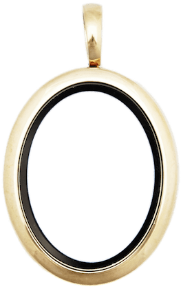 Locket Gold Standard Oval Plain