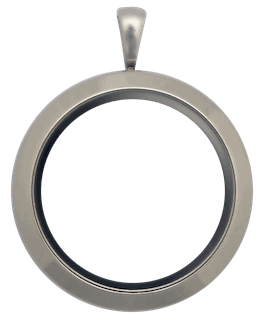Locket Silver Standard Round Plain