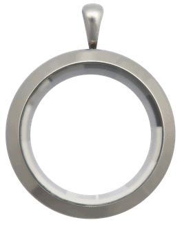 Locket Silver Standard Plain Prism