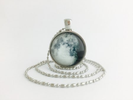 Moon Pendant - Waning Gibbous Silver