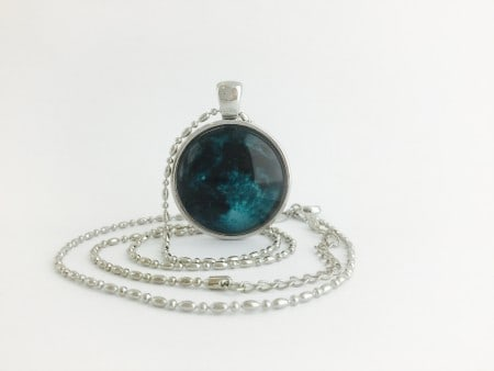Moon Pendant - New Moon Silver