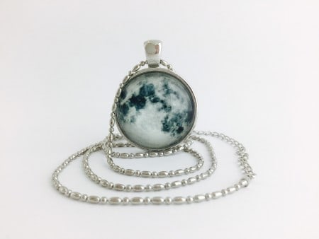 Moon Pendant - Full Moon Silver