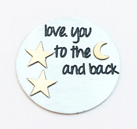 Love you to the Moon and Back Plate