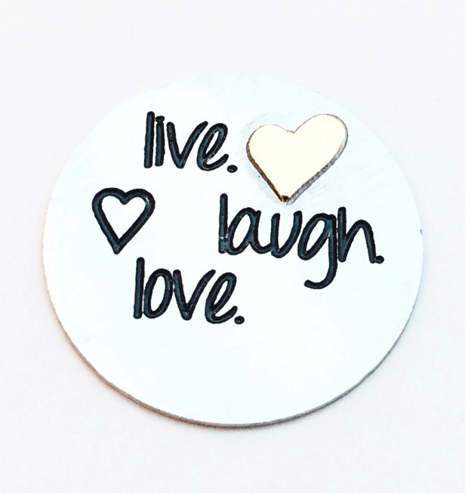 live laugh love plate