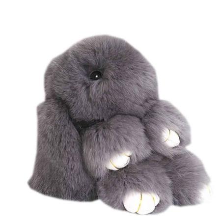 Grey Bunny Key Ring
