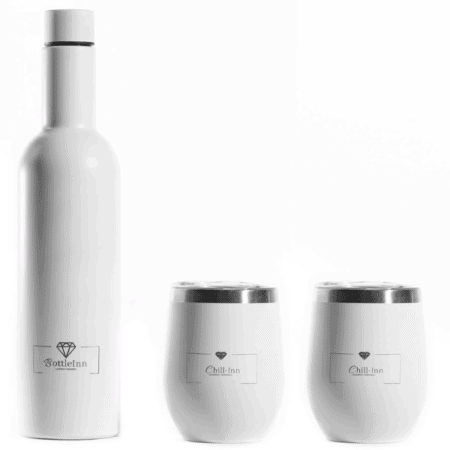 Insulated Decanter And Chill-Inn Goblet In Matt Black - INNsulated Party Gift Set